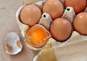 Eggs in box